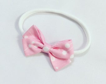 Pink fairy floss signature bow headband