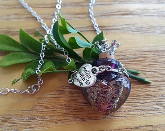 Aromatherapy Necklace, Diffuser Necklace, Essential Oil Necklace,  Perfume Locket, Scent Diffuser, Heart Locket Necklace, Mother's Day Gift