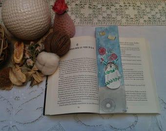 "Bookmarks handmade ""Penguin"", Bookmark Art drawing print"