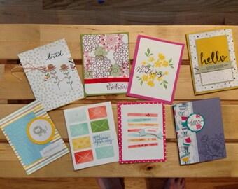 Set of 8 Handmade Cards