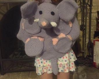 Crochet Elephant Backpack