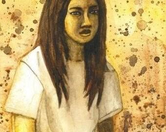 Misfit Original Watercolor Painting