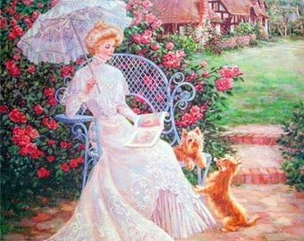 Ccs Pattern Paula Vaughan S Rose Garden Cross Stitch