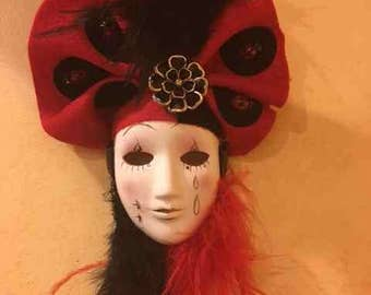 Black and Red Lady Bug Mask