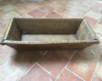 Old trough rough wood rustic wooden crafted authentic trough