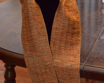 Handwoven rayon scarf - 60 in x 5 in