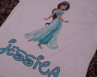Custom Tshirts Cinderella Princess Pocahontas Kids Character Top Shirt Personalised