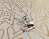 Sing Heart Necklace (Silver) // Music Jewelry