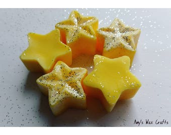 5 Yellow, Fruity, Citrus, Lemon, Scented, Soy Wax, Star, Wax Melts, Fragrance