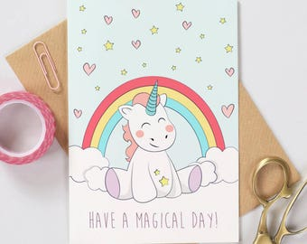 Unicorn Birthday Card - Have a Magical Day!