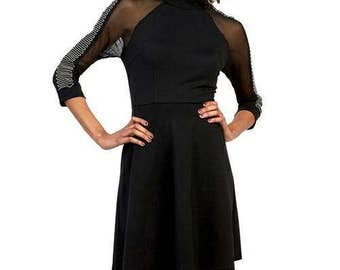 SHEER SLEEVE DRESS.S,M,L.
