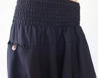 Harem pants; Aladdin-Black