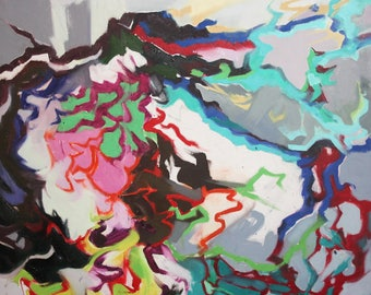 Abstract oil painting