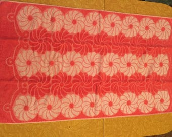 Vintage pink and white towel