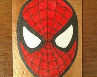 Spider-Man golden sketch card