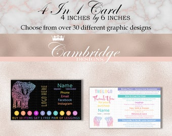 4 In 1 Card - Home Office Approved Fonts and Colors Business Card, Digital