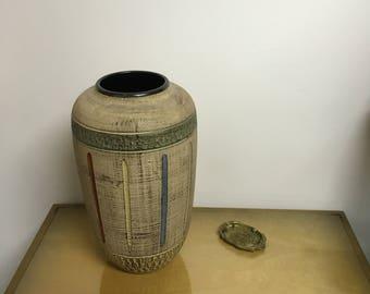 Vintage vase mid century ceramic large vase