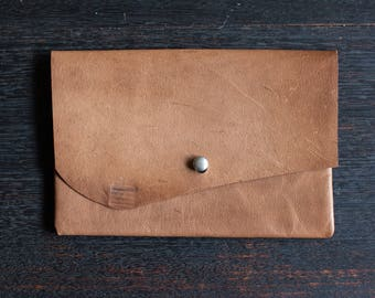 Clutch - Kangaroo Leather (Tan Brown)