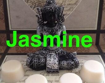 Jasmine wax tarts, jasmine wax melt, eco soy wax melts, wax burner, wax made in the uk, scented wax, home fragence, candle supplies, garden