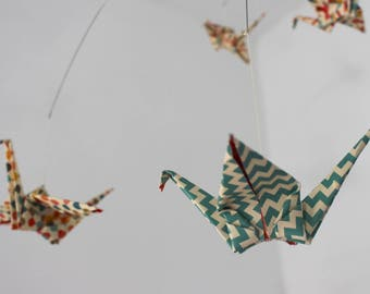 Large Origami Paper Bird Mobile.