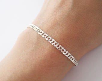 Silver 925/1000th curb chain bracelet