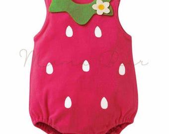 Strawberry Baby onesie baby bodysuit babysuit; strawberry baby costume