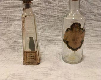 Two antique perfume bottles