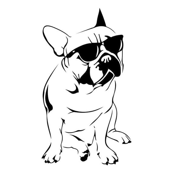 french bulldog graphics svg dxf eps png cdr ai pdf vector art