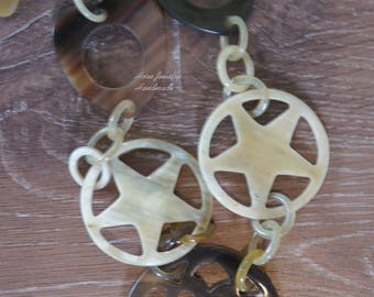 Natural beauties of genuine buffalo horn necklace handmade from organic material - collier en corne corne de buffle