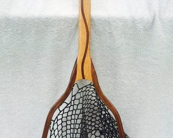 Handcrafted Landing Net - Oak and Walnut