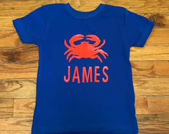 Boys Summer Crab Shirt