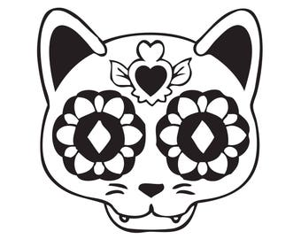 Vinyl Decals - Sugar Skull Cat