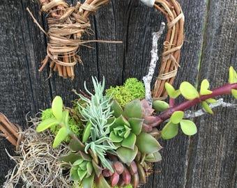 "6"" Succulent Heart Wreath"