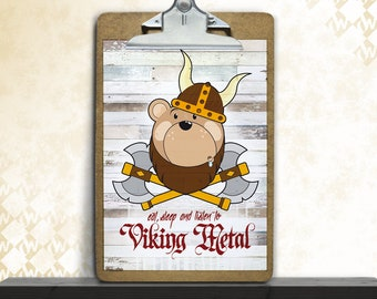 Viking baby, art print, posters, fine art print, art print, nursery art, bear, Viking, children's room, decoration