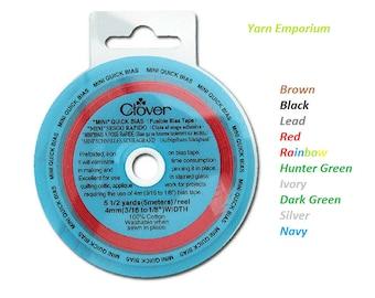 "Clover Quick Bias Tapes #730 Solids, Multicolor & Metallics 3/16"""