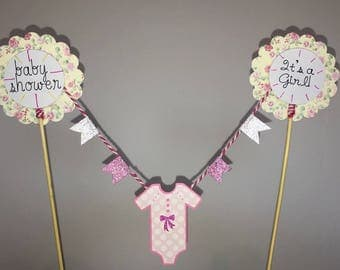Baby girl baby Shower Washing Line