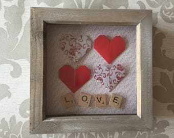Origami Heart Box Frame