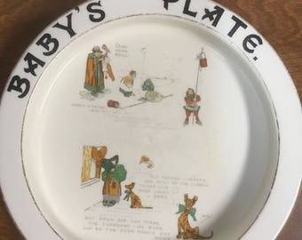 Vintage Baby's Plate