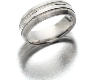 Tungsten Carbide - White wedding band 2