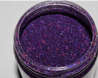 Purple rain glitter polish