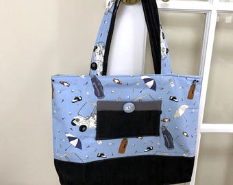 Lady Golfer's Tote Bag
