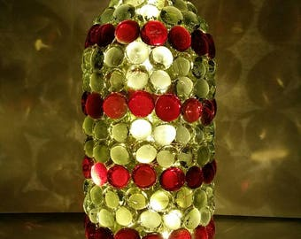 Red and White Bottle Lamp