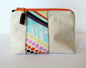 "6"" Canvas Zippered Pouch"