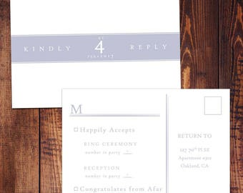 RSVP Postcard - Wedding and Party - Customizable