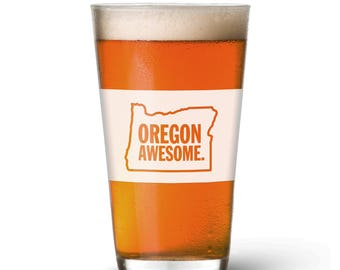 Oregon Awesome Pint Glass
