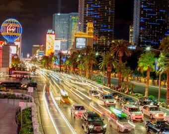 Las Vegas Long Exposure, Las Vegas Photography, Long Exposure, City Photography, City Lights, Wall Art, Fine Art Photography, Americana