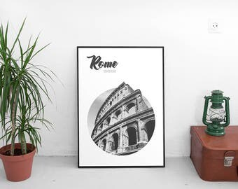 Colosseum Rome, Italy Poster (Travel Poster,Modern Wall Art Prints,Printable,Rome Printables,Digital Prints,Rome Poster,Digital Download)