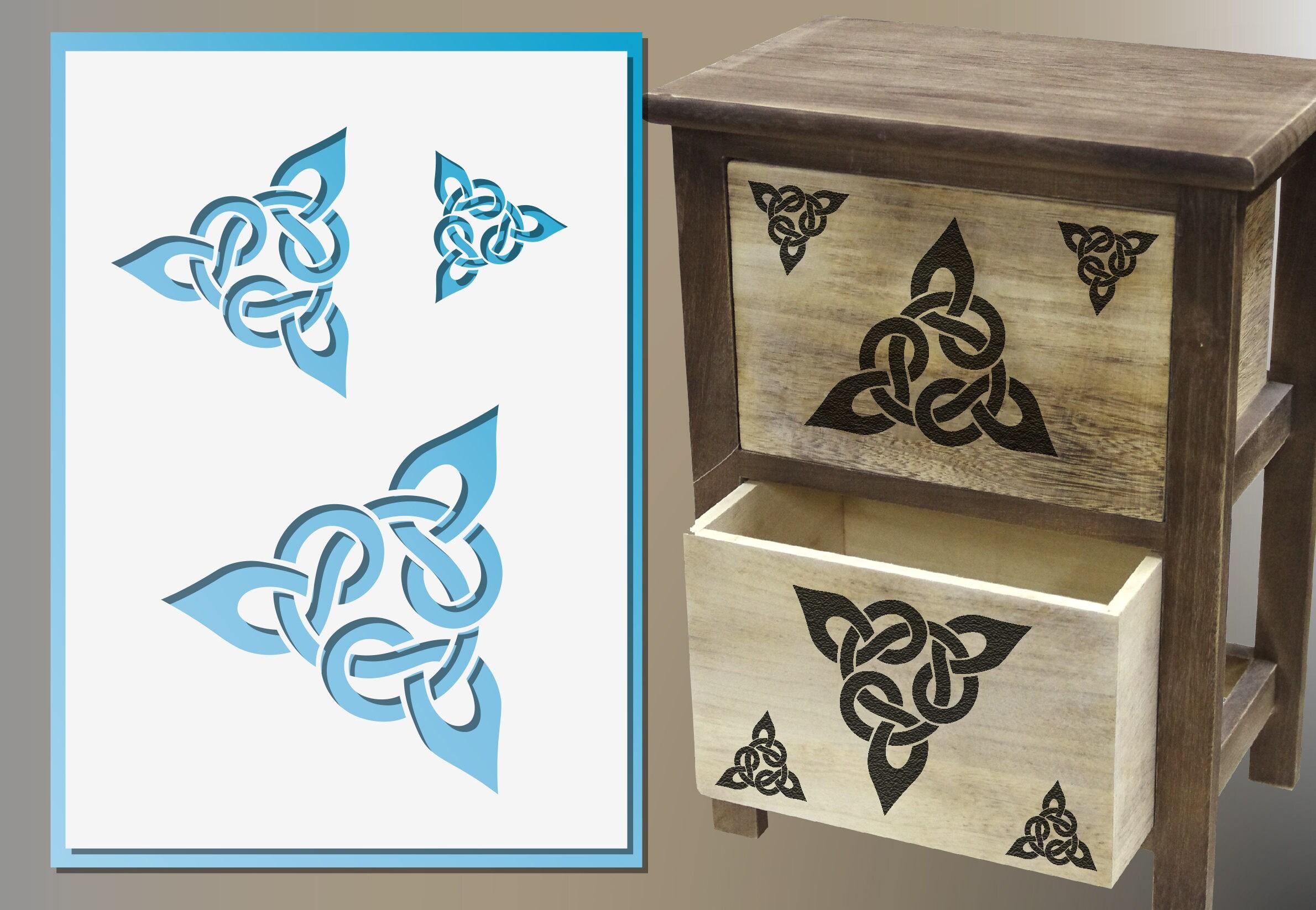 Celtic knot stencil wall art craft baking scrapbooking design 755 amipublicfo Gallery