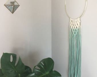 Ombre dip dye wall hanging