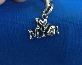 Dog cell phone charms